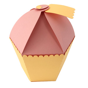 3d birthday cupcake box