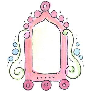 watercolor fancy frame