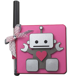 robot double sticky note holder