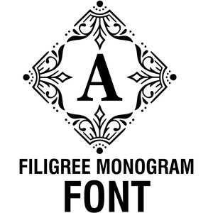filigree monogram font