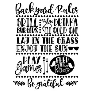 backyard rules