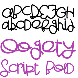 pn oogety script bold