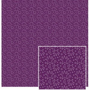 white outlined stars on purple pattern