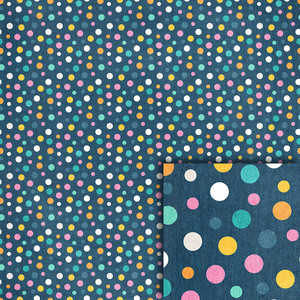 blue polka dots background paper