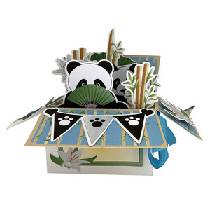 panda pop up card in a box