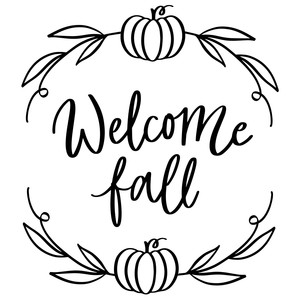 welcome fall pumpkin wreath