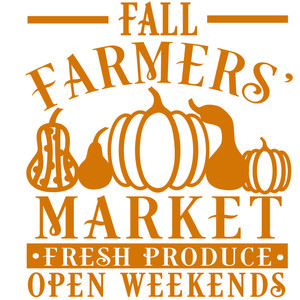 fall farmers' market sign