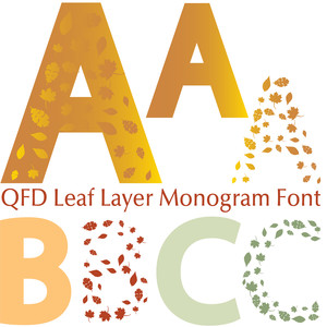 qfd leaf layer monogram font
