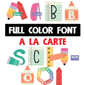 a la carte - school - color font