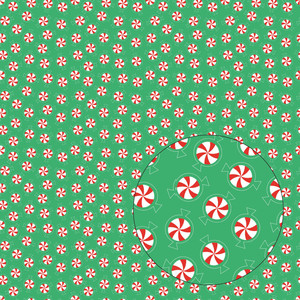 christmas peppermints seamless pattern