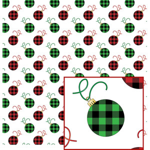 buffalo plaid ornament pattern