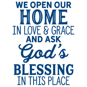 we open our home in love & grace