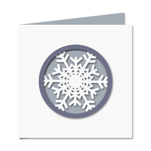 snowflake cut out card