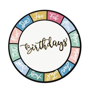 birthday wheel