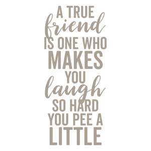 a true friend is one who makes you laugh so hard you pee a little