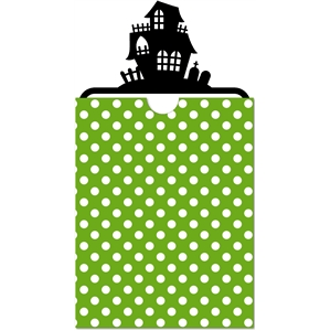 3-pc halloween haunted house card