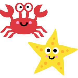 crab and starfish