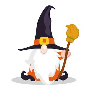 fall gnome witch