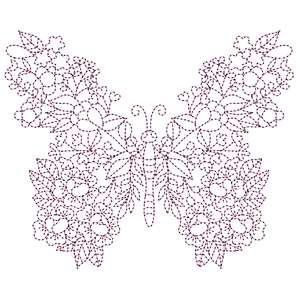 sketch and stitch floral butterfly