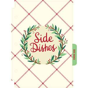 holiday cookbook side dishes divider