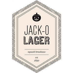 jack-o-lager beverage label
