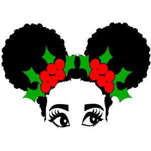christmas emma afro puffs