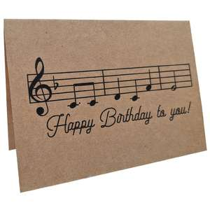 happy birthday to you music card