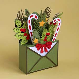 christmas envelope box card