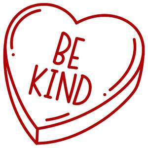 be kind candy heart