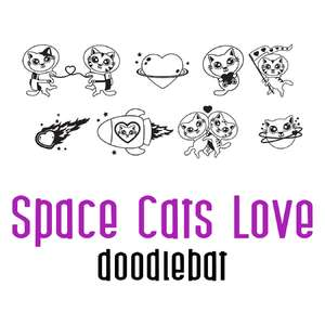space cats - love doodlebat