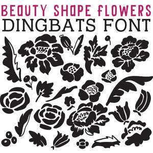 cg beauty shape flowers dingbats