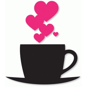 silhouette design store view design 37986 tea cup hearts