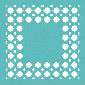 12x12 cutout frame background