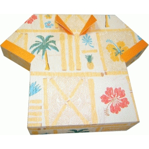 hawaiian style shirt gift box