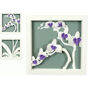 3d orchid shadow box