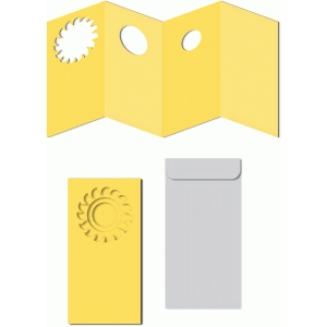 nested accordion windows sun card w envelope
