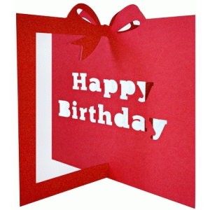 3d gift shaped birthday card