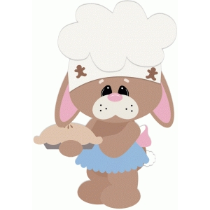 bunny baking pie
