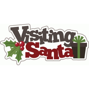 visiting santa christmas title/phrase
