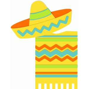 sombrero and poncho
