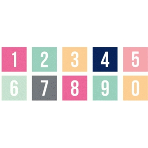 solid square monogram numbers