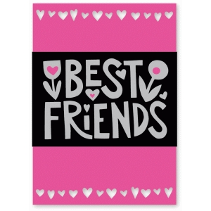 best friends card with wrap