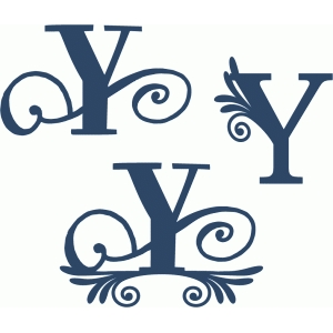 flourish monogram set - y