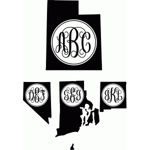 monogram basic script states Montana-W Regular