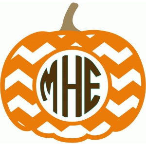 chevron pumpkin monogram