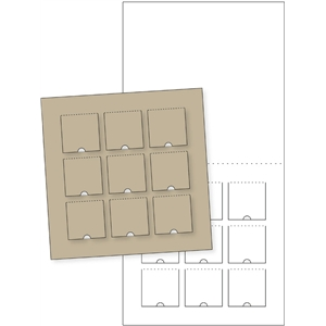 flap square card