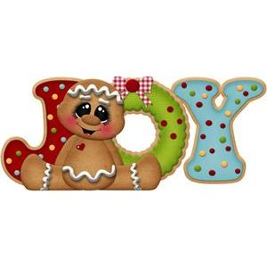 christmas gingerbread title joy