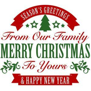 merry christmas family greeting
