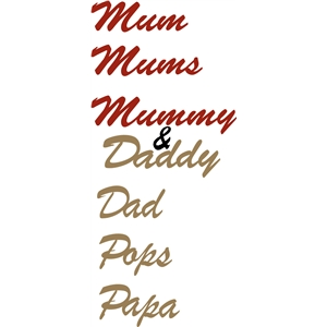 mummy & daddy phrase