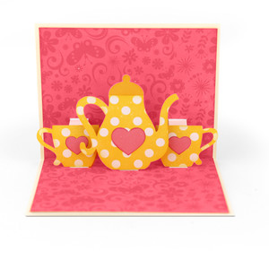 a2 tea party pop up card